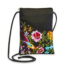 938fd687a978 Embroidered Floral Travel Crossbody (Black)  Handbags  Amazon.com