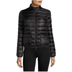 Moncler Lans Short Down Puffer Jacket (40.940 RUB) ❤ liked on Polyvore featuring outerwear, jackets, coats, multicolor, parkas, puffer parka, multi coloured jacket, moncler jacket, goose down jacket and puffa jackets