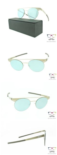 Other Unisex Eyewear 179246: Ic! Berlin Sunglasses Geometry Bronze Round Metal Frames Teal Mirrored -> BUY IT NOW ONLY: $319 on eBay!