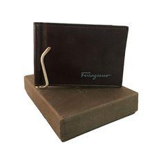 Salvatore Ferragamo Brown Leather Clipper for Men.  #clipper, #wallet, #men, #women, #fashion, #india