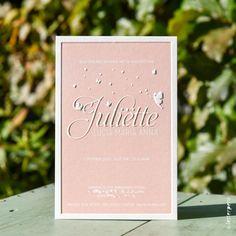 Geboortekaartjes met elfjes Juliette op dik papier- Letterpers