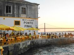 ponto final, seafood and sunsets Oh The Places You'll Go, Places To Visit, Lisbon Restaurant, Voyage Europe, Destination Voyage, Hotels, Portugal Travel, Portugal Trip, City Break