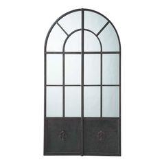 Espejo de metal negro Al. 211cm MAINE