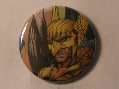 "Comic Book 1.5"" Button// Hawkman and Atom (Ray Palmer), $1.00"