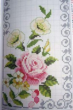 """«Шебби-шик – молодой стиль декора, название которого  переводится как """"потёртый шик""""  (англ. shabby – поношен н ый, потертый, chic  – шик... Cat Cross Stitches, Easy Cross Stitch Patterns, Cross Stitch Bookmarks, Cross Stitch Heart, Simple Cross Stitch, Bead Loom Patterns, Cross Stitch Flowers, Hardanger Embroidery, Cross Stitch Embroidery"""