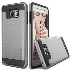 VRS Verge Brushed Metal Galaxy Note 5 Case - Satin Silver