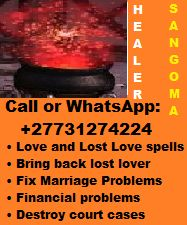 Call or Whatsapp:+27731274224.Is your life falling Apart in anyway? I'm a Sangoma, spells caster/healer • Love and Lost Love spells • Bring back lost lover in a day • Fix Marriage Problems • Fix Broken relationship • Healing Spells • Love Binding Spells • Home Protection Spells • Family Protection Spell • Find a new lover • Bind him/her to love you forever • Child bearing problems • Property protection • Financial problems • Destroy court cases • Defeat your enemies or competitors Family Protection, Protection Spells, Home Protection, Bring Back Lost Lover, Bring It On, Spell Family, Love Binding Spell, Life Falling Apart, Lost Love Spells