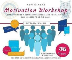 REM Athens is coming closer and so are the workshops. Sign up fast at http://ift.tt/2amtXFE because places are limited!  We present you workshop nr. 1 on motivation  Do you want to know how you can motivate yourself and your club members to become a more dedicated Rotaractor then sign up quick  #rotaract  #remathens2016 #rotaractgreece