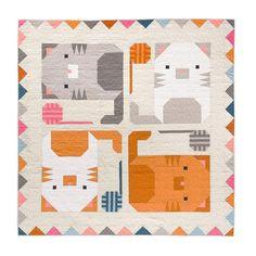 Quilt Square Patterns, Patchwork Quilt Patterns, Modern Quilt Patterns, Square Quilt, Sewing Patterns, Quilting Patterns, Strip Quilts, Easy Quilts, Kid Quilts