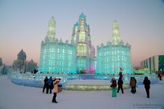 Harbin is all about ice ice baby - If you are into ice, like ice sculptures and ice buildings, Harbin, Heilongjiang province China, is the place to go.   See http://photo.blekkenhorst.org/harbin-ice-ice-baby/ #travelphotography #travel #travelinspiration #photoblog #china #harbin #ice #fun