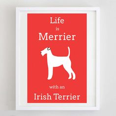 Life is Merrier with an Irish Terrier by ForeverFoxed,