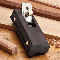 Ebony Chamfer Plane Visually stunning and very useful on your bench A thoughtful gift for the woodworker