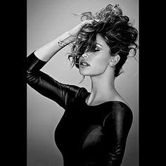 Belen Rodriguez wears Space Style Concept Leather Dress FW14 Collection for COTRIL New Campaign