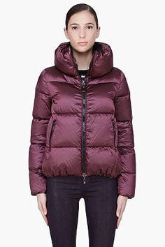 Moncler Burgundy Padded Erable Jacket for women