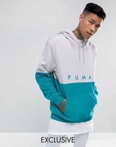 f908b8ee47e Puma Pullover Mixed Polar Hoodie In Purple Exclusive to ASOS 57658501