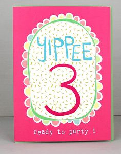 NEW 3rd Birthday Cards For Girls by Molly Mae. I love this new range. You can also find the boys age range at Card Crush.