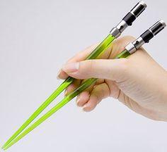 $24.99 Star Wars Lightsaber Chopsticks - Yoda. I WANT THESE