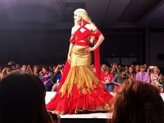 "Her Universe Fashion Show - SDCC 15 #SDCCgeekcouture |  ""Rise From Fire - Khaleesi"" gown by Erica Williams."