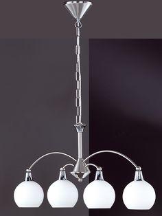 """Lampa wisząca """"Weimar"""" w kolorze srebrnym - szer. 78 cm kampania: Honsel - lampy  348.00 zł** 667.00 zł*-48%*"""