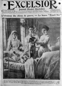 """WWI, """"Fend l'Air' was a very famous dog. He made the covers of multiple French and foreign papers."""""""