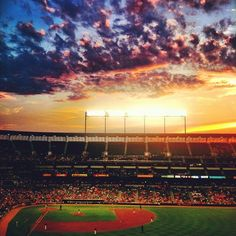 A beautiful summer sunset at Oriole Park at Camden Yards! #Orioles