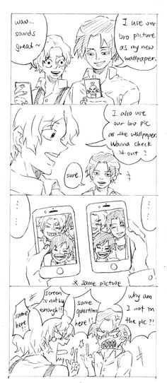Luffy is their precious younger brother - ASL ♥
