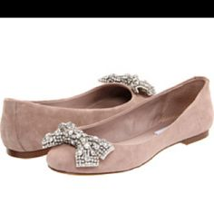 Blush flats with rhinestone bow by Steve Madden     http://www.zappos.com/product/7882508/color/10909