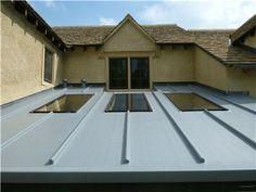 Garden room roof in GRP