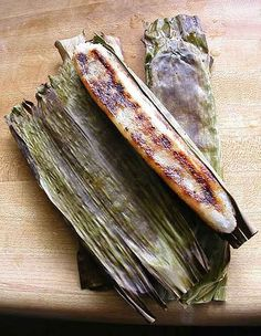 Tupig from Pangasinan. A native delicacy made with rice and grated coconuts wrapped in a banana leaf.