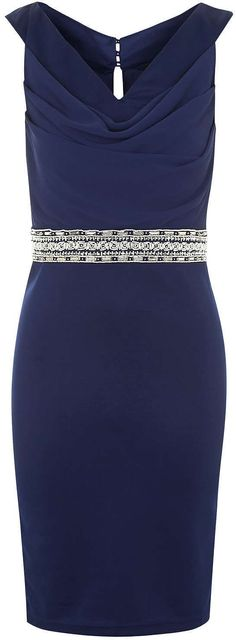 Womens bright navy bodycon dress from Topshop - £58 at ClothingByColour.com