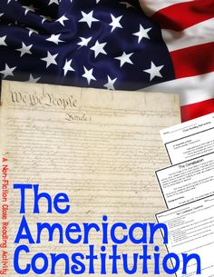 The American Constitution: A Nonfiction Close Reading Activity is a nonfiction passage providing a brief introduction to the history and main function of the Constitution. #CloseReading #Nonfiction