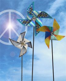 """The Pinwheels for Peace Project...very cool. Combine with Op Art? Have kids write a prayer or their desire for peace first of all in their family, school, then in Sumter, in the US, in the world. Have Art club also create pin wheels.  Class can put them somewhere """"safe"""" on campus? With inspirational signs (on bullying- practical messages)"""