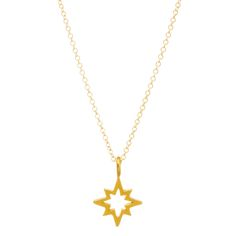 you are my north star necklace, open star, gold dippedyou are my north star necklace, open star, gold dipped