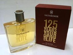"""125 Years Your Companion for Life ~ Victorinox 3.4 oz Men Eau de Toilette Spray by Swiss Army. Save 94 Off!. $26.95. EDT SPRAY 3.4 OZ (100 ML). DESIGN HOUSE - Victorinox. YEAR INTRODUCED - 2009. """"Victorinox 125 Years Cologne by Victorinox, This manly anniversary edition fragrance by victorinox celebrates 125 years. Aromas of cocoa beans and woody ingredients make this fragrance both traditional and elegant."""""""