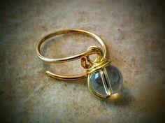 Clear bead dangle ring
