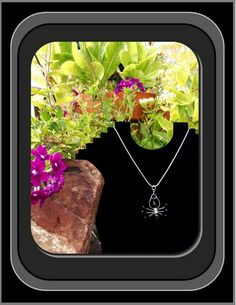 spider jewelry, spider necklace, spider web jewelry, arachnid,insects | ArtisticCreationsbyRose - Jewelry on ArtFire