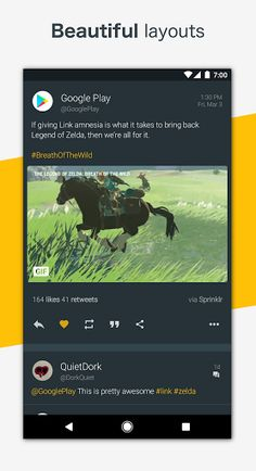 Talon for Twitter (Plus) v6.3.3 [Patched]   Talon for Twitter (Plus) v6.3.3 [Patched]Requirements:4.4Overview:Created with Material Design at its core Talon for Twitter includes stunning layouts eye catching animations and that buttery smoothness you should expect from the latest and greatest apps.  Talon gives you everything you could ever need to experience Twitter.  Custom Materialized theme engine for fine-grained color control. Completely custom swipe-able pages for the main screen…