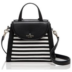 Kate Spade Cobble Hill Stripe Small Adrien (€250) ❤ liked on Polyvore featuring bags, handbags, satchels, satchel bag, stripe handbag, handbag satchel, kate spade purses and striped handbag