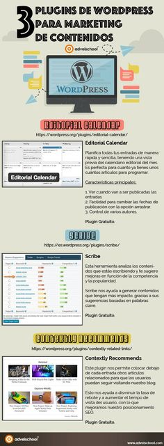 3 plugins sobre marketing de contenidos para WordPress #infografía