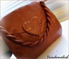 Purse Cake With Chocolate Marshmallow Fondant ~ Sankeerthanam (Reciperoll.com)|Recipes | Cake Decorations | Cup Cakes |Food Photos