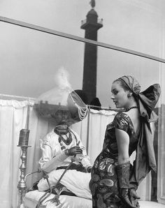 Model in a dress by Elsa Schiaparelli, photo by Regina Relang, Paris, 1951
