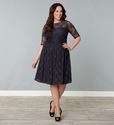 The perfect cocktail dress, the Luna lace dress features scalloped lace and nude mesh backing to hide bra straps. Buy this lace overlay dress online today. Plus Size Lace Dress, Evening Dresses Plus Size, Plus Size Dresses, Plus Size Outfits, Cute Fashion, Fashion Beauty, Lace Overlay Dress, Western Dresses, Types Of Dresses