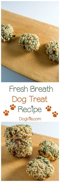 Ready to give Fido's stinky breath a makeover? Our homemade fresh breath dog treat recipe should do the trick! If you're looking for hypoallergenic dog treat recipes, these are great unless your pooch has an oat or egg allergy.