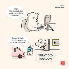 The gap strikes again! (But Tube staff are not so that's ok) Panda Love, Love Bear, Red Panda, Cute Couple Comics, Cute Couple Cartoon, Cartoon Memes, Cartoon Characters, Cute Panda Cartoon, Happy Birthday Drawings