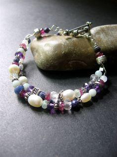 Gemstone Beaded Bracelet. MultiStone by SimpleElementsDesign