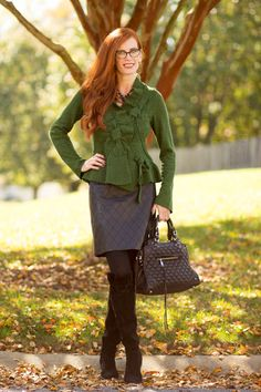 Turning Heads #Linkup-Rich Green Anthro Sweater+ Hair Affair