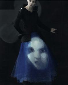"georgina stojiljkovic by sarah moon for another magazine fall 2011 ""the singing silhouette"""
