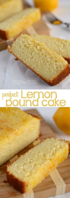 The perfect Lemon Pound Cake with triple lemon flavor. This is so full of lemon flavor it's the perfect recipe for any occasion!
