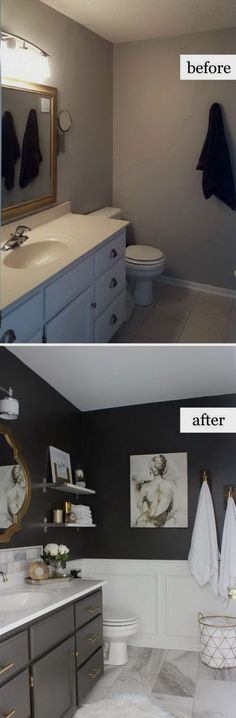 awesome Before and After Makeovers: 20+ Most Beautiful Bathroom Remodeling Ideas  #RemodelingTools