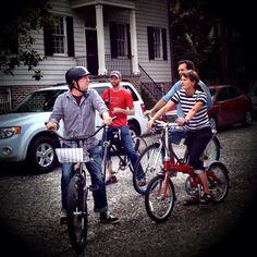 Biking through the Savannah Historic District is so fun!